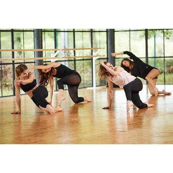 Naadloze legging voor moderne dans dames zwart
