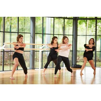 T-shirt manches courtes de danse femme rose pâle - 1300582