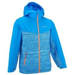 女童防風健行運動外套 Helium 500 - 線條藍