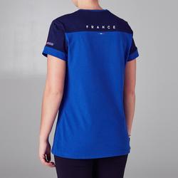 Fußballshirt FF100 Frankreich Damen blau