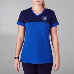 T-shirt de football femme FF100 France bleu