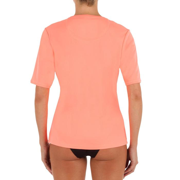 WATER tee SHIRT anti UV surf Manches Courtes femme corail fluo