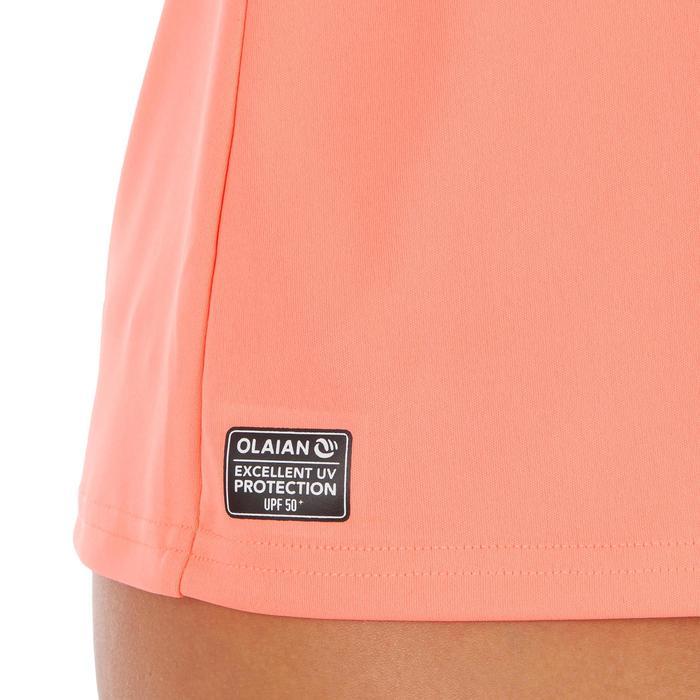Uv-werend zwemshirt met korte mouwen voor dames, voor surfen, fluokoraal - 1300791