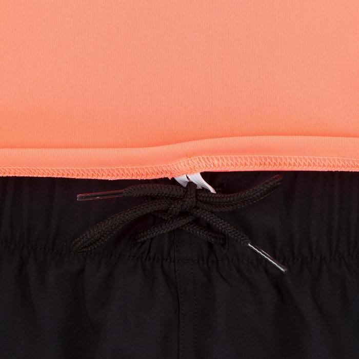 Uv-werend zwemshirt met korte mouwen voor dames, voor surfen, fluokoraal - 1300794