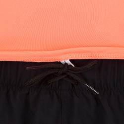 Women's short-sleeved UV-protection surfing water T-shirt - Fluo coral