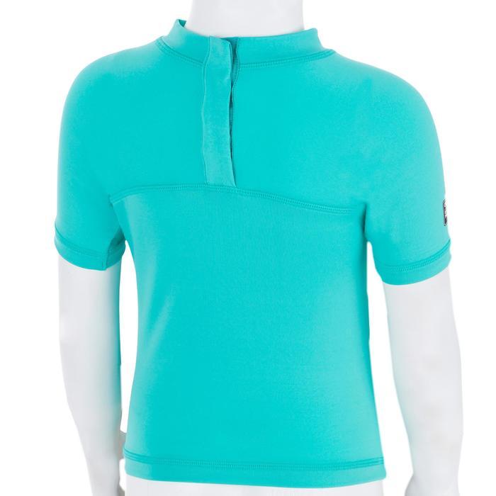 Uv-werend shirt 100 met korte mouwen voor peuters turquoise - 1300828
