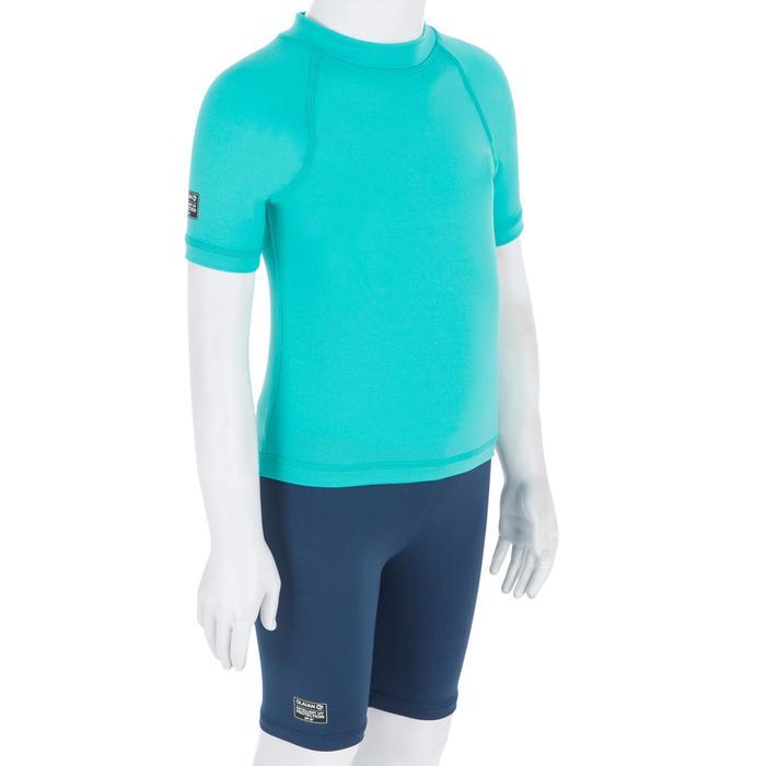 Uv-werend shirt 100 met korte mouwen voor peuters turquoise - 1300832