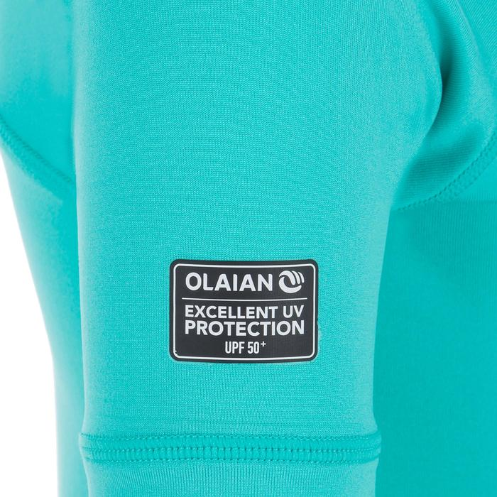 Uv-werend shirt 100 met korte mouwen voor peuters turquoise - 1300833