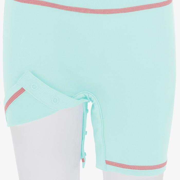 uv-werende shorty met korte mouwen voor peuters wit roze