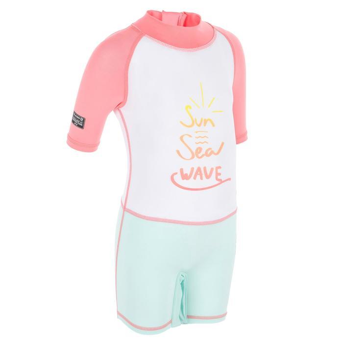 tee shirt anti UV shorty surf manches courtes bébé - 1300848