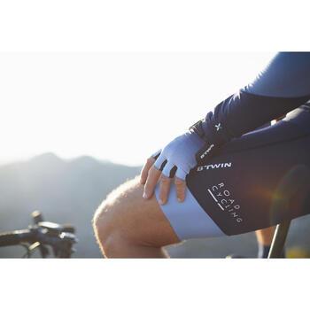 Kurze Fahrrad-Trägerhose Rennrad 900 Herren blau/grau