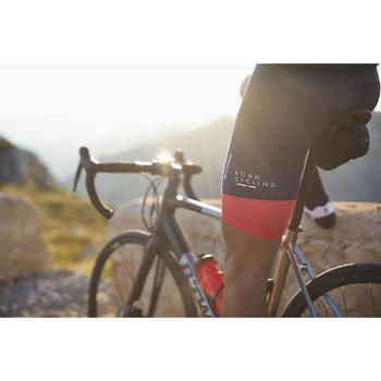 CUISSARD VELO ROUTE HOMME ROADCYCLING 900 NAVY ROUGE