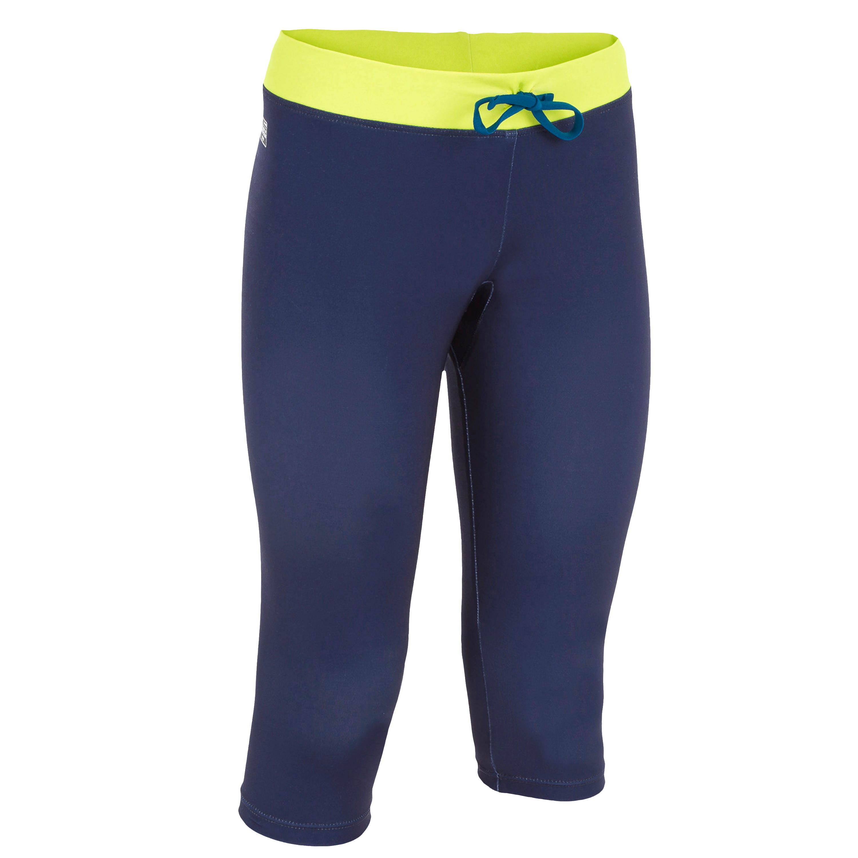 500 child's anti-UV surfing cropped trousers - Navy blue