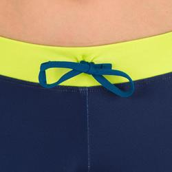 Uv-werende surf kuitbroek 500 voor kinderen marineblauw