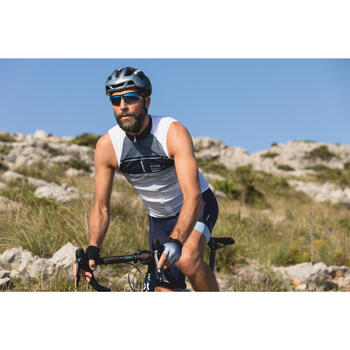 MAILLOT VELO SANS MANCHES HOMME ROADC 900 BLANC NAVY - 1301008