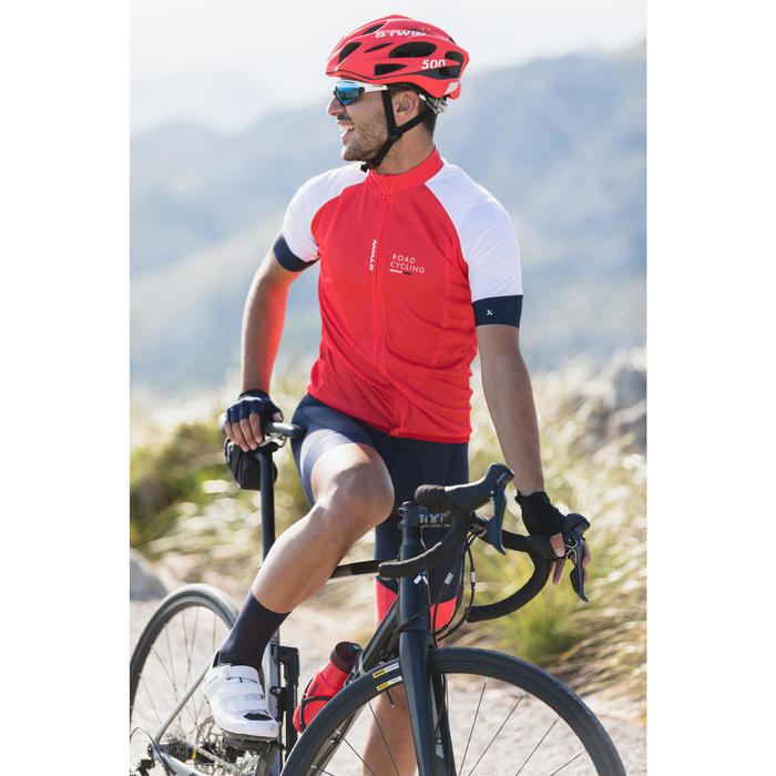 MAILLOT VELO ROUTE MANCHES COURTES HOMME ROADCYCLING 900 ROUGE