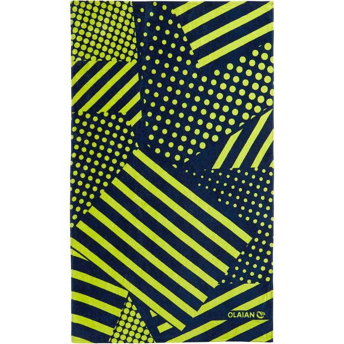 Handdoek Basic L print Square 145 x 85 cm