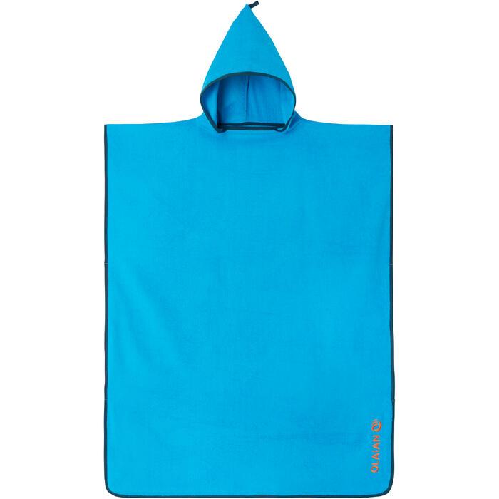 Poncho Toalla Surf Olaian 500 Adulto Azul Cambiador