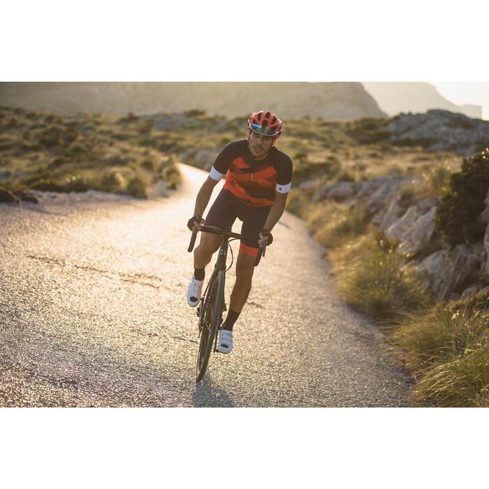 Kurzarm-Radtrikot Rennrad 900 Herren rot/blau/weiß