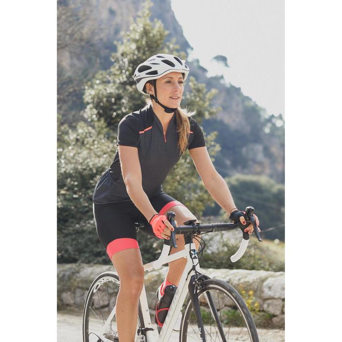Kurzarm-Radtrikot Rennrad 500 Damen schwarz/pink