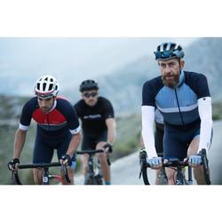 Fahrrad-Armlinge Rennrad RR 500 seamless schwarz für kühles Wetter