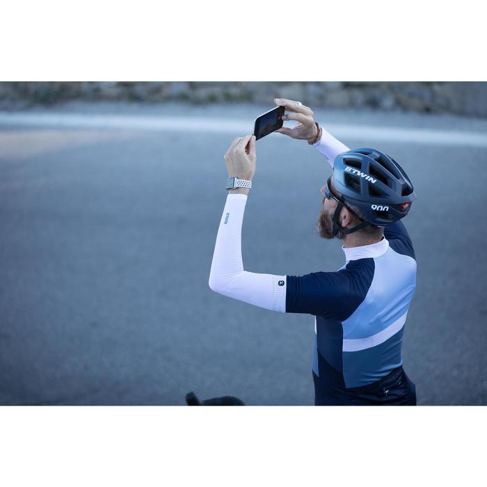 Fahrrad-Armlinge Rennrad 500 weiß vorgeformt