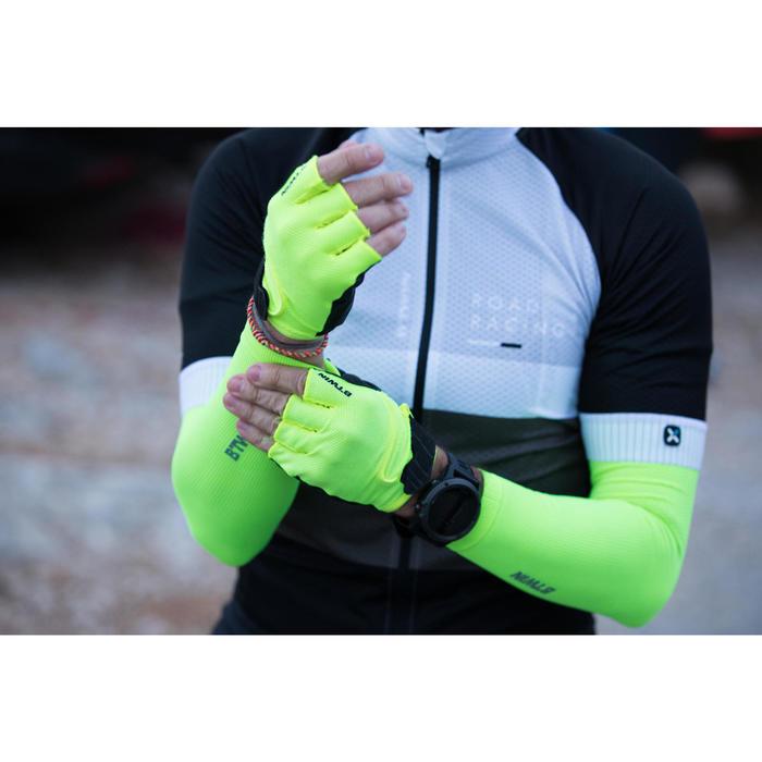 Fahrrad-Armlinge Rennrad RR 500 gelb für kühles Wetter