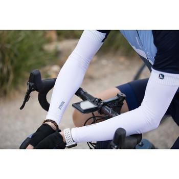 Fahrrad-Armlinge Rennrad RR 500 weiß für kühles Wetter
