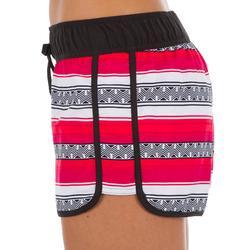 Dames boardshort met elastische tailleband en aantrekkoord Tini Guarana