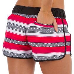 Boardshort mujer TINI GUARANA cintura elástica y cordón de ajuste