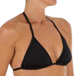 Mae 女性附襯墊式罩杯滑動式三角泳裝上裝 - 黑色