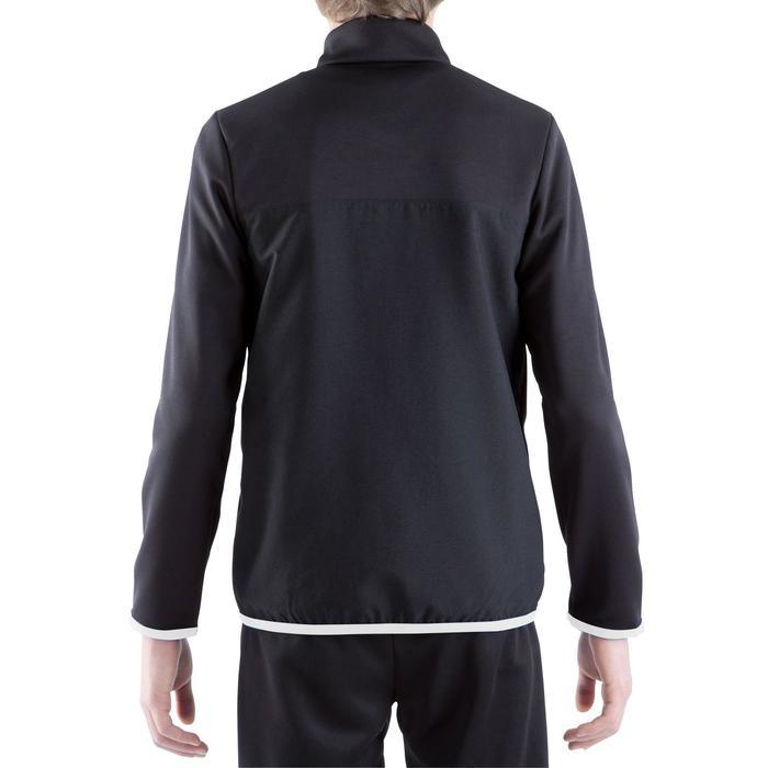Veste d'entraînement de football enfant T100 noire - 1301885