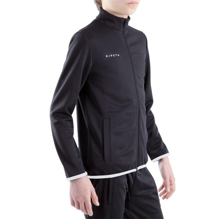 Veste d'entraînement de football enfant T100 noire - 1301887