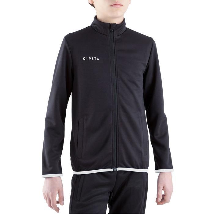 Veste d'entraînement de football enfant T100 noire - 1301889