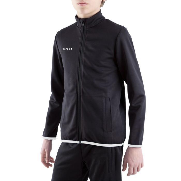 Veste d'entraînement de football enfant T100 noire - 1301890