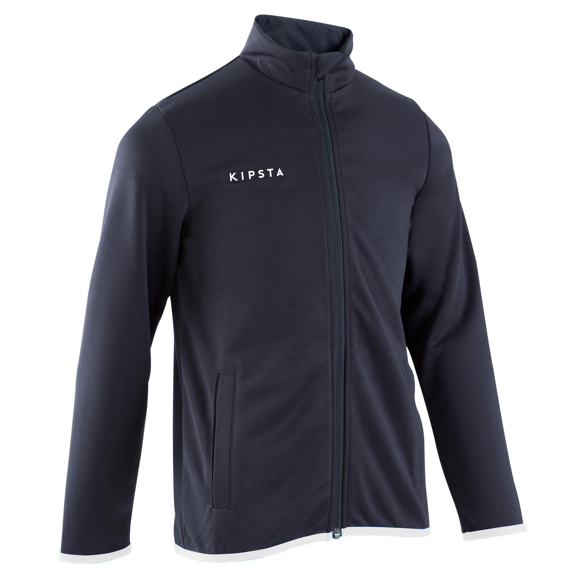 T100 Kids' Soccer Training Jacket - Black