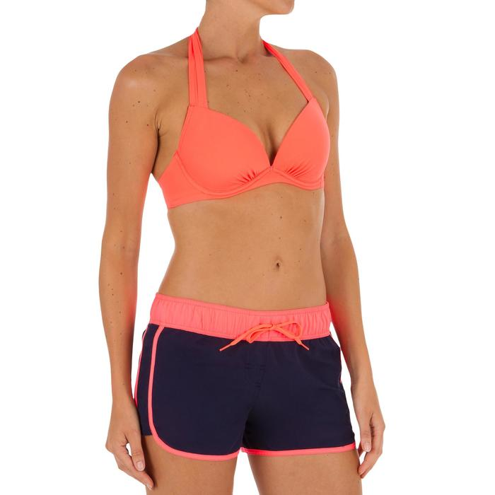 Dames boardshort met elastische tailleband en aantrekkoordje Tini Colorb
