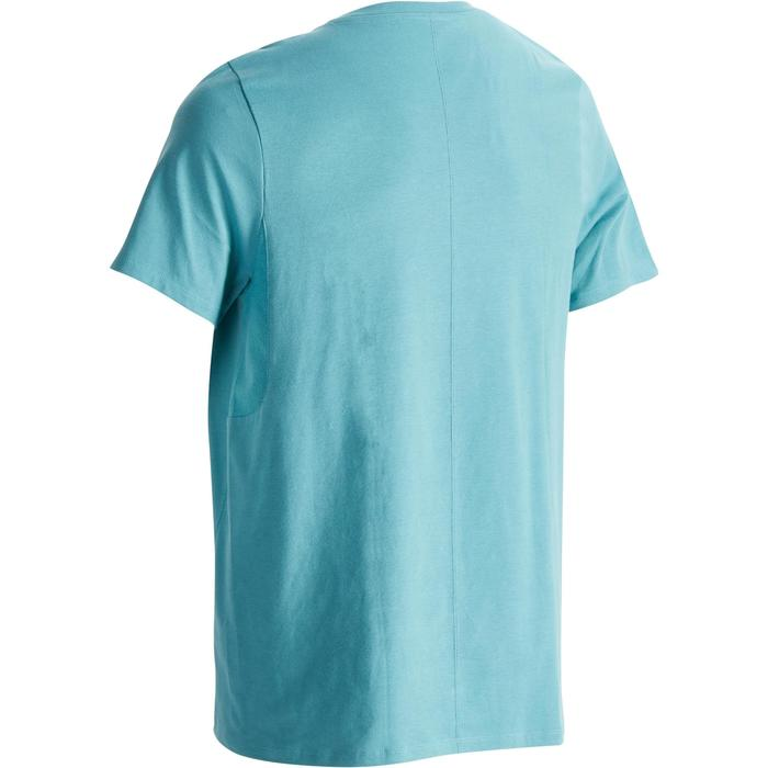 Heren T-shirt 520 voor gym en pilates V-hals regular fit Britanny blue print