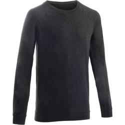 Sweatshirt 100 Gym Stretching Herren dunkelgrau