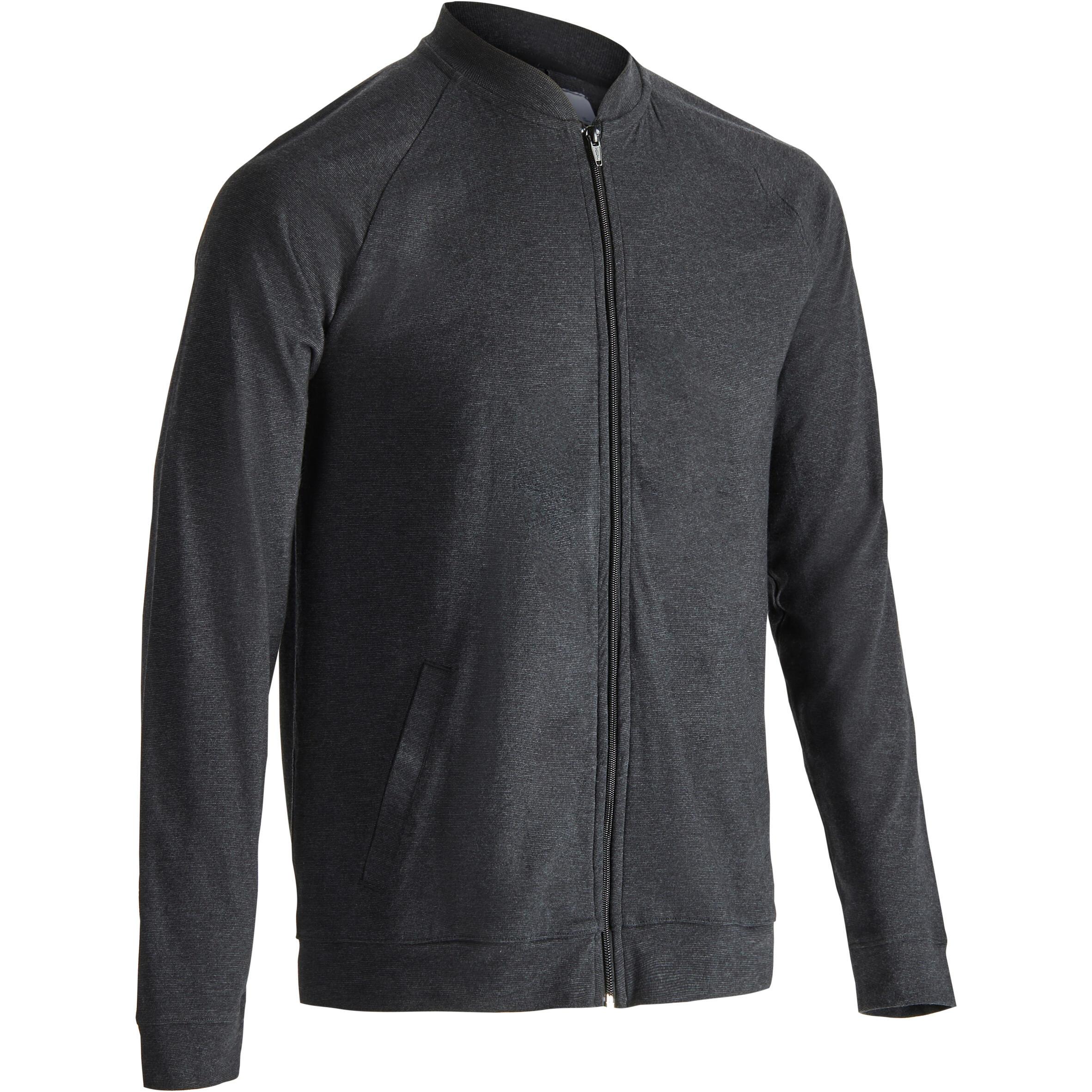Domyos Vest 100 voor gym en pilates heren carbongrijs
