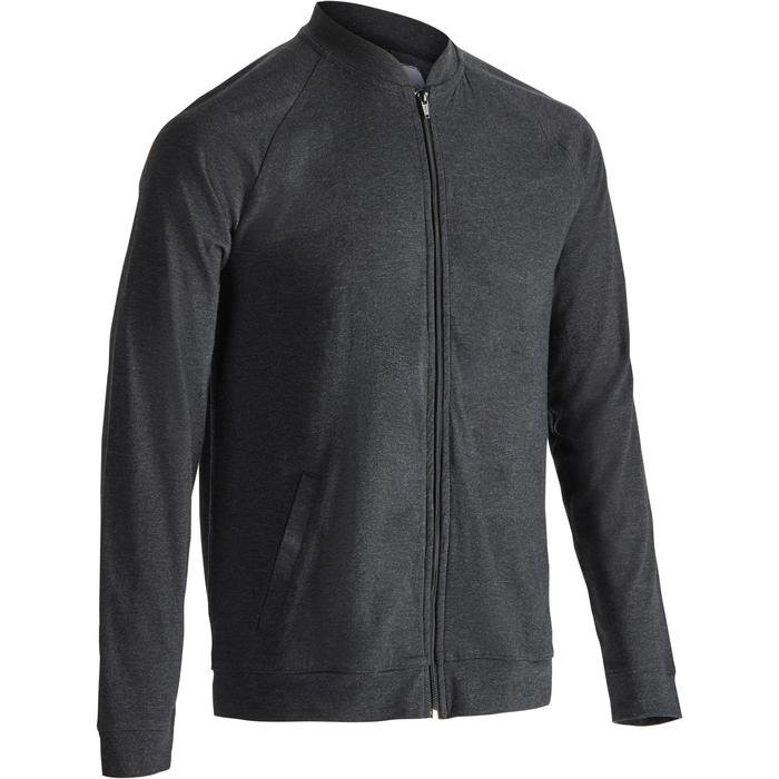 Veste 100 Gym Stretching homme gris carbone