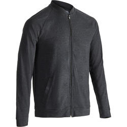 Veste 100 Pilates Gym douce homme gris carbone