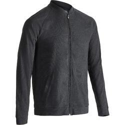 Vest 100 voor gym en pilates heren carbongrijs