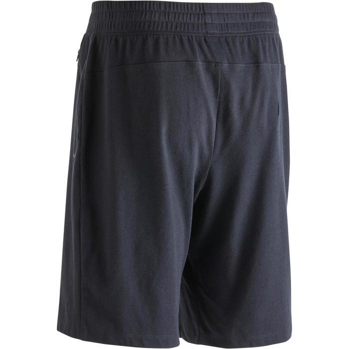 Short 520 slim au dessus du genou Gym Stretching noir homme - 1302077