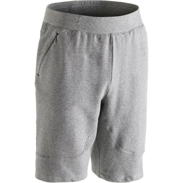 Short 900 slim au dessus du genou Gym Stretching & Pilates homme gris - 1302083