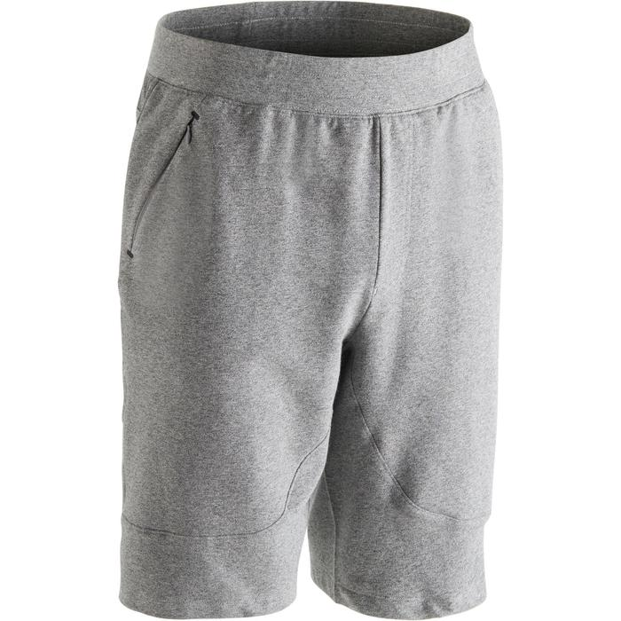 Short 900 slim au dessus du genou Gym Stretching & Pilates homme gris