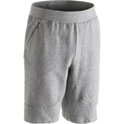 Short 900 slim au dessus du genou Gym Stretching & Pilates homme gris