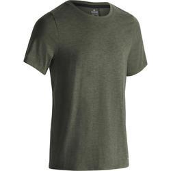 Heren T-shirt 520 voor gym en pilates regular fit ronde hals wit AOP