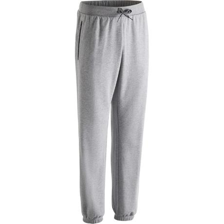 a9d5942b596f 500 Regular-Fit Zip Gym Stretching Bottoms - Light Heathered Grey ...