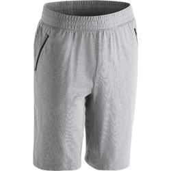 Short 520, slim fit, tot net boven de knie, gym en pilates, heren, grijs